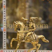 اسب سوار شیپور زن برنزی