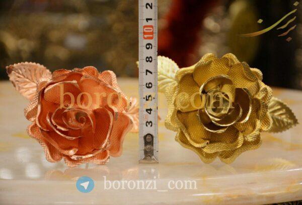 گل شاخه ای گل رز مسی