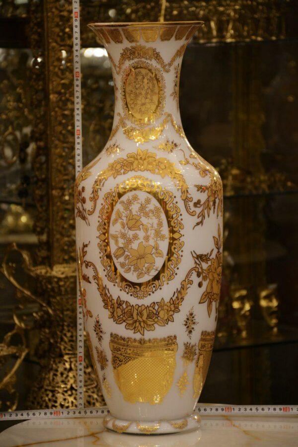 گلدان طلا کوب ۷۰سانتی دورو کارشده