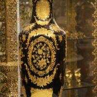 گلدان طلا کوب ۷۰سانتی