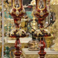 لاله شاه عباسی قرمز طرح گل طلاکوب
