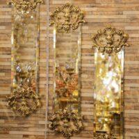 آینه دیواری برنزی طرح مروارید