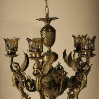 لوستر مدل فرشته پنج شاخه آنتیک