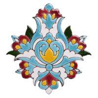 کاشی معرق گل هفت رنگ طرح اسلیمی کد MKZ04
