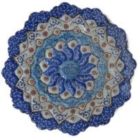بشقاب مسی مینا کاری شده  ۲۰ سانتی متری مدل اصفهان کد 01