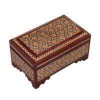 جعبه جواهرات خاتم کاری کد 873