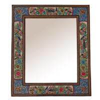 قاب آینه خاتم کاری مدل گل و مرغ کد 2330