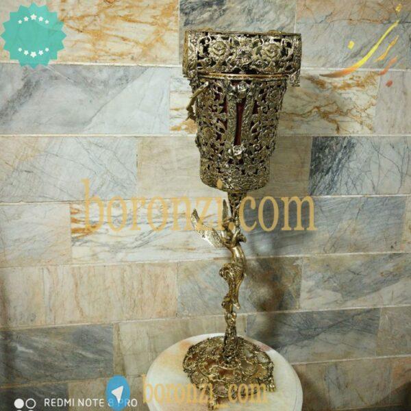 سطل و جا دستمال برنزی طرح جدید رومیزی پایه دار فرشته