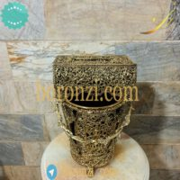 سطل و جا دستمال برنزی طرح جدید رومیزی2