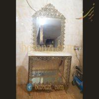 بوفه آینه برنزی تخت اسلیمی