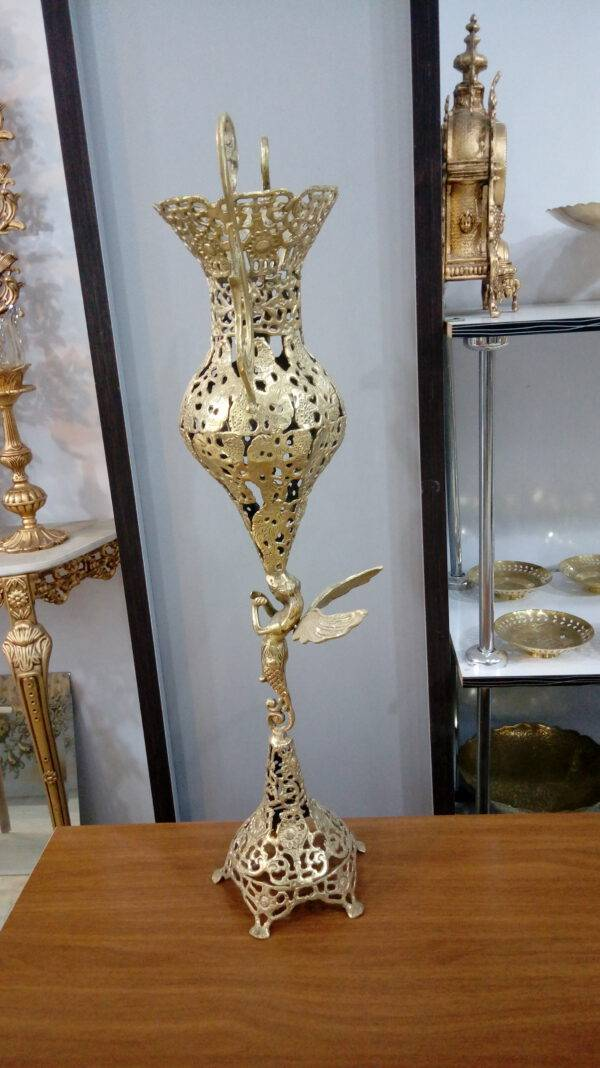 گلدان برنجی طرح طاووس