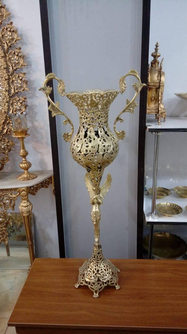 گلدان پایه فرشته برنزی