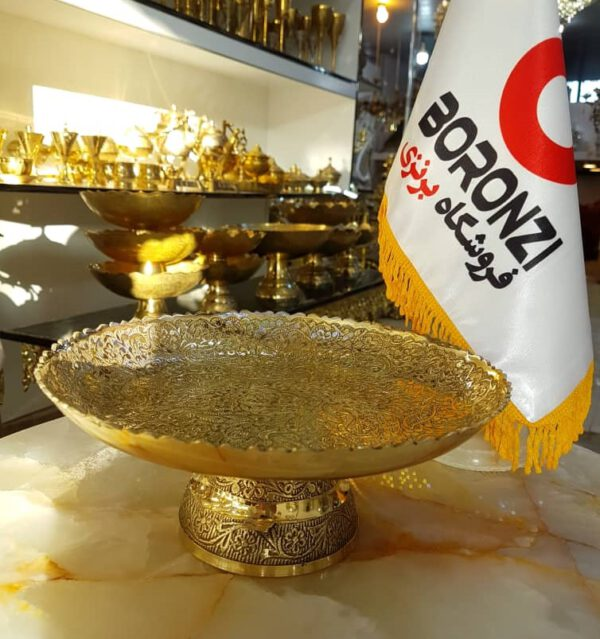 شیرینی خوری برنجی هندی لبه ریز
