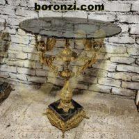 میز خاطره برنزی پایه سنگی سه فرشته