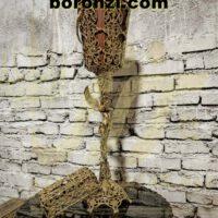 سطل و جا دستمال برنزی طرح 3 پایه فرشته