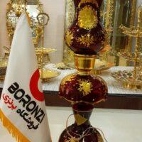 شمعدان طلا کوب