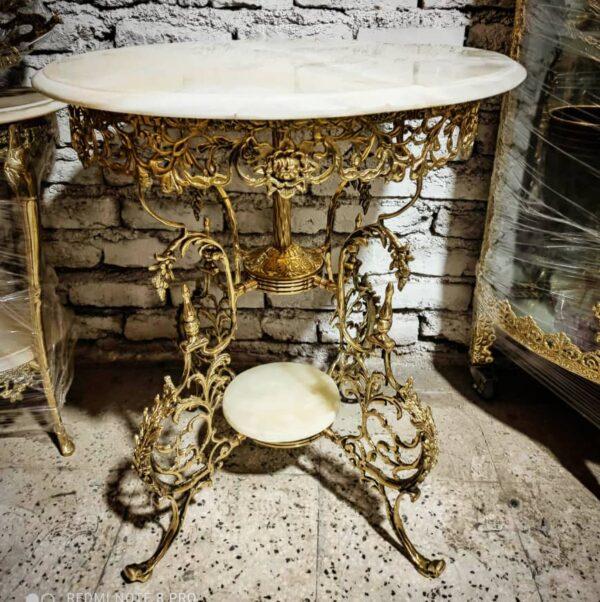 میز خاطره برنزی پایه فرانسوی