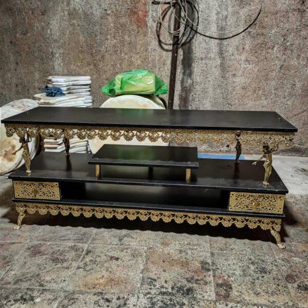 میز تلویزیون برنزی دو کشو جدید 1400